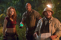 Jumanji: Welcome to the Jungle (2017) <br /> Karen Gillan, Dwayne Johnson and Jack Black <br /> *Filmstill - Editorial Use Only*<br /> CAP/KFS<br /> Image supplied by Capital Pictures