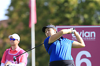 Daniela Darquea (ECU) tees off the 6th tee during Thursday's Round 1 of The Evian Championship 2018, held at the Evian Resort Golf Club, Evian-les-Bains, France. 13th September 2018.<br /> Picture: Eoin Clarke | Golffile<br /> <br /> <br /> All photos usage must carry mandatory copyright credit (© Golffile | Eoin Clarke)