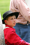 A civil war era boy at an reactment