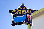 Starlet sign at apartment building in Burbank, California