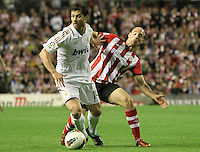 02.05.2012 SPAIN -  La Liga matchday 20th  match played between Athletic de Bilbao vs Real Madrid (0-3) at San Mames stadium, Real Madrid was proclaimed as champion of the League for 32nd time. The picture show Xabier Alonso (Spanish midfielder of Real Madrid)