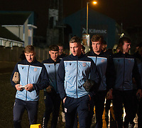 27th December 2019; Dens Park, Dundee, Scotland; Scottish Championship Football, Dundee Football Club versus Dundee United; Captain Josh Meekings leads Dundee on the short walk from Dens Park to Tannadice Park - Editorial Use