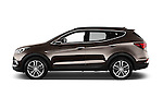 Car Driver side profile view of a 2016 Hyundai Santa-Fe Executive 5 Door Suv Side View