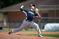 Vermont Lake Monsters relief pitcher Branden Kelliher (5) during a game against the Auburn Doubledays on July 13, 2016 at Falcon Park in Auburn, New York.  Auburn defeated Vermont 8-4.  (Mike Janes/Four Seam Images)
