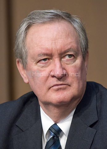 United States Senator Mike Crapo (Republican of Idaho)  listens as Judge Neil Gorsuch testifies before the United States Senate Judiciary Committee on his nomination as Associate Justice of the US Supreme Court to replace the late Justice Antonin Scalia on Capitol Hill in Washington, DC on Monday, March 20, 2017.<br />Credit: Ron Sachs / CNP / MediaPunch<br />(RESTRICTION: NO New York or New Jersey Newspapers or newspapers within a 75 mile radius of New York City)
