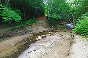 Eastside Road and Trail Repair Project -  This is a section of the Eastside Road that was washed out during Tropical Storm Irene. If the repair project is approved a new bridge will be installed in this general location and the old culvert will be removed.<br />