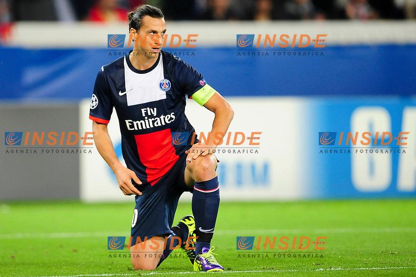 Zlatan Ibrahimovic (psg) <br /> Parigi 2/10/2013 <br /> Football 2013/2014 Champions League<br /> Paris Saint Germain Benfica <br /> JB Autissier Panoramic / Insidefoto<br /> ITALY ONLY