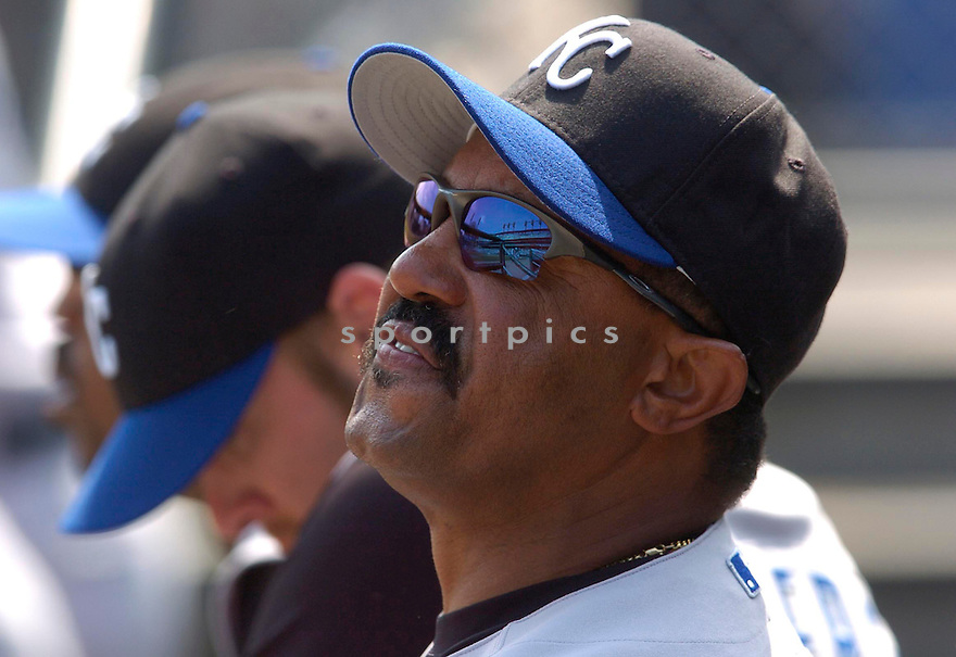 Tony Pena during the Kansas City Royals v. Detroit Tigers game on April 6, 2005...Royals win 7-2..Chris Bernacchi / SportPics