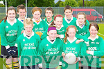 Loreto NS team that played in the National Schools football blitz in Dr Crokes GAA grounds on Friday front row l-r: Ryan O'Connor, Aoife Allman, Elaine Courtney, Alison Shannon. Back row: Emer O'Sullivan, Michael Ryan, Katie O'Connor, Michael Lagan, Rebecca Walsh, Conor Murphy and Zoe O'Sullivan  .   Copyright Kerry's Eye 2008