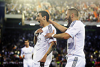 Real Madrid's Angel Di Maria (l) and Karim Benzema celebrate goal during spanish KIng's Cup Final match.April 16,2014. (ALTERPHOTOS/Acero) <br /> Finale Coppa del Re<br /> Real Madrid Barcellona <br /> Foto Insidefoto