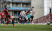 Christian Eriksen of Tottenham Hotspur shoots at goal during the Premier League match between Tottenham Hotspur and Bournemouth at White Hart Lane, London, England on 15 April 2017. Photo by Mark  Hawkins / PRiME Media Images.