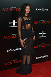 "Actress Ajiona Alexus arrives on the red-carpet for Tyler Perry""s ACRIMONY movie premiere at the School of Visual Arts Theatre in New York City, on March 27, 2018."