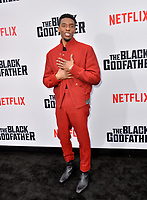 "LOS ANGELES, USA. June 04, 2019: Chadwick Boseman at the premiere for ""The Black Godfather"" at Paramount Theatre.<br /> Picture: Paul Smith/Featureflash"