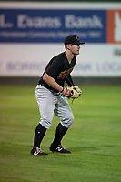 Great Falls Voyagers left fielder Alex Destino (24) during a Pioneer League game against the Idaho Falls Chukars at Melaleuca Field on August 18, 2018 in Idaho Falls, Idaho. The Idaho Falls Chukars defeated the Great Falls Voyagers by a score of 6-5. (Zachary Lucy/Four Seam Images)