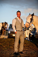 3/10/2010.  Traveller Michael Crumlish aged 18 from Derry is pictured at the Ballinasloe Horse Fair, Ballinasloe, County Galway, Ireland. Picture James Horan