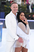 Antony Cotton &amp; Brandee Malto at the &quot;Dancing on Ice&quot; launch photocall at the Natural History Museum, London, UK. <br /> 19 December  2017<br /> Picture: Steve Vas/Featureflash/SilverHub 0208 004 5359 sales@silverhubmedia.com