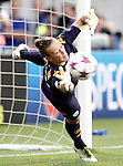 VfL Wolfsburg's Almuth Schult during UEFA Women's Champions League 2015/2016 Final match.May 26,2016. (ALTERPHOTOS/Acero)