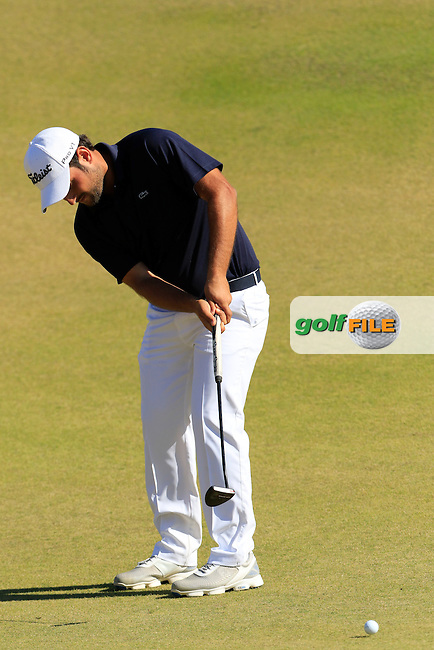 Alexander Levy (FRA) putts onto the 10th green during Friday's Round 2 of the 2015 U.S. Open 115th National Championship held at Chambers Bay, Seattle, Washington, USA. 6/20/2015.<br /> Picture: Golffile | Eoin Clarke<br /> <br /> <br /> <br /> <br /> All photo usage must carry mandatory copyright credit (&copy; Golffile | Eoin Clarke)