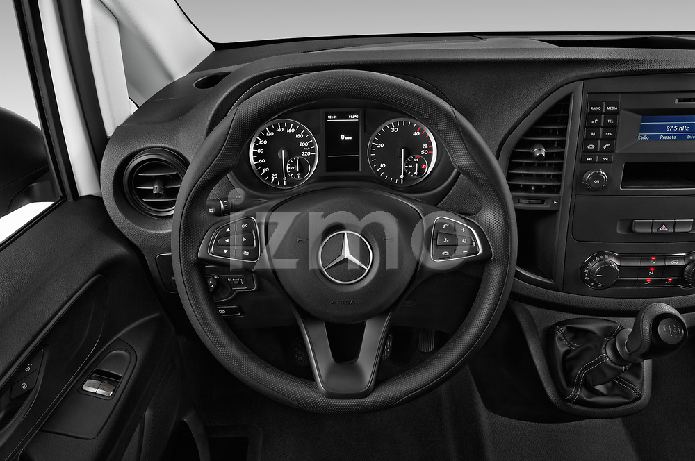 Car pictures of steering wheel view of a 2019 Mercedes Benz Vito Base 4 Door Car Van Steering Wheel