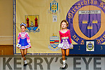 Leah Lonergan from Tipperary and Abbey Aherne from Abbeyfeale Co. Limerick on stage at the Irish dancing finals in the Brandon Hotel on Sunday afternoon.