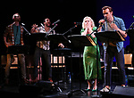 "Alex Gibson, Blaine Alden Krauss, Amanda Jane Cooper and Zach Adkins during the New York Musical Festival production of  ""Alive! The Zombie Musical"" at the Alice Griffin Jewel Box Theatre on July 29, 2019 in New York City."