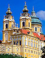 Austria, Lower Austria, Wachau, Melk, Benedictine monastery since 1089, founded by margrave Leopold II.