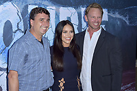 Anthony C. Ferrante, Cassandra Scerbo und Ian Ziering at the premiere of SyFy TV-Film Zombie Tidal Wave at the Garland Hotel in Los Angeles, California August 12, 2019. Credit: Action Press/MediaPunch ***FOR USA ONLY***