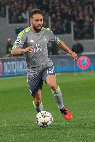 17.02.2016. Stadio Olimpico, Rome, Italy. UEFA Champions League, Round of 16 - first leg AS Roma versus Real Madrid. CARVAJAL DANIEL RAMOS IN ACTION
