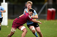 Sean Withy in action during the Otago premier club rugby union match between University and AU Broncos at Logan Park in Dunedin, New Zealand on Saturday, 4 July 2020. Photo: Joe Allison / lintottphoto.co.nz