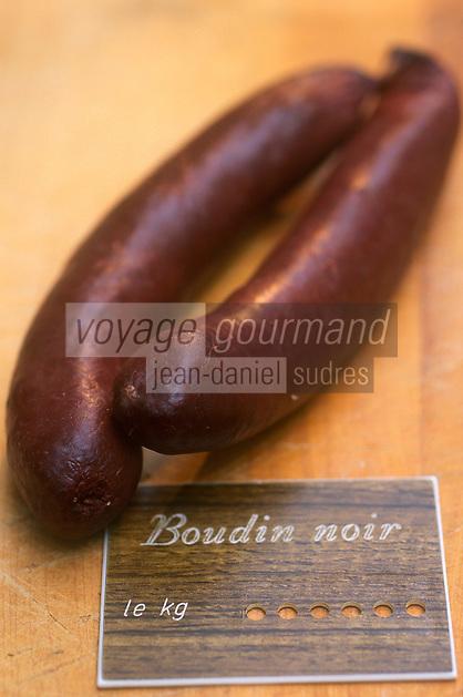 Europe/France/Alsace/67/Bas-Rhin/Strasbourg: Le boudin noir ingrédient de la choucroute alsacienne