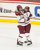Alex Carpenter (BC - 5), Haley Skarupa (BC - 22) - The Boston College Eagles defeated the Northeastern University Huskies 5-1 (EN) in their NCAA Quarterfinal on Saturday, March 12, 2016, at Kelley Rink in Conte Forum in Boston, Massachusetts.