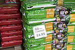 Bulrush professional Multi-Purpose compost bags on sale, The Walled garden plant nursery, Benhall, Suffolk, England, UK