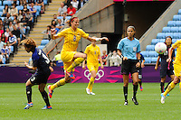 28.07.2012 Coventry, England. Lotta SCHELIN (Sweden) in action during the Olympic Football Women's Preliminary game between Japan and Sweden from the City of Coventry Stadium