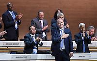 Fussball International Ausserordentlicher FIFA Kongress 2016 im Hallenstadion in Zuerich 26.02.2016 FIFA Praesidenten ist herzenssache; neuer FIFA Praesident Gianni Infantino (Schweiz)