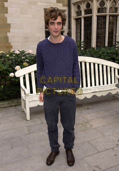 "ROBERT PATTINSON.""Harry Potter & The Goblet of Fire"" Photocall at Merchant Taylor's Hall, London, UK..October 25th, 2005.full length blue sweater black trousers.www.capitalpictures.com.sales@capitalpictures.com.© Capital Pictures."