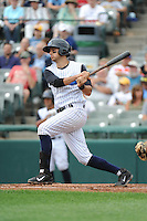 Trenton Thunder  infielder Dan Fiorito (20) during game against the Altoona Curve at ARM & HAMMER Park on August 6, 2014 in Trenton, NJ.  Trenton defeated Altoona 7-3.  (Tomasso DeRosa/Four Seam Images)