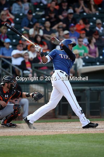 Ronald Guzman - Texas Rangers 2016 spring training (Bill Mitchell)