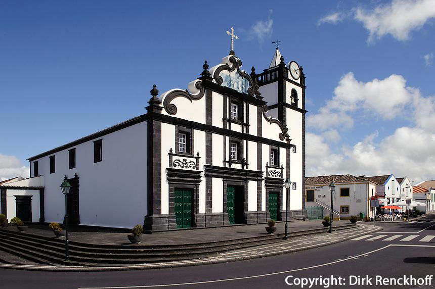 Kirche in Capelas auf der Insel Sao Miguel, Azoren, Portugal