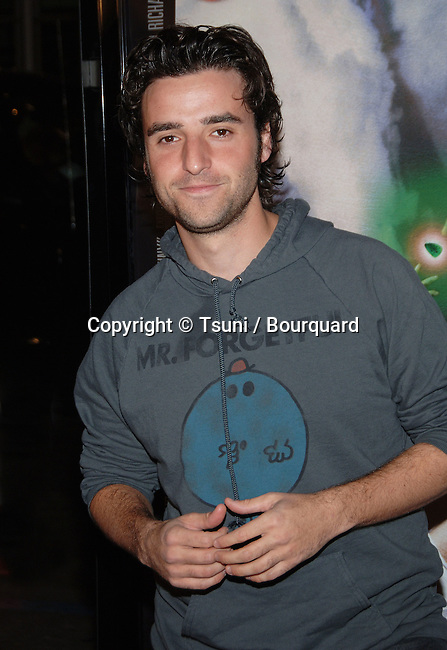 David Krumholtz arriving at the TENACIOUS D in The Pick Of Destiny Premiere at the Chinese Theatre in Los Angeles.<br /> <br /> 3/4<br /> eye contact