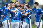 Dundee v St Johnstone&hellip;29.12.18&hellip;   Dens Park    SPFL<br />Scott Tanser celebrates his goal<br />Picture by Graeme Hart. <br />Copyright Perthshire Picture Agency<br />Tel: 01738 623350  Mobile: 07990 594431