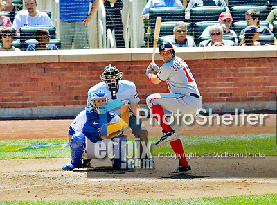 25 July 2012: Washington Nationals third baseman Ryan Zimmerman in action against the New York Mets at Citi Field in Flushing, NY. The Nationals defeated the Mets 5-2 to sweep their 3-game series. Mandatory Credit: Ed Wolfstein Photo