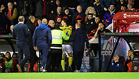 Blackburn Rovers' Richard Smallwood makes his way down the tunnel after he was shown a red card by referee Anthony Taylor<br /> <br /> Photographer Chris Vaughan/CameraSport<br /> <br /> The EFL Sky Bet Championship - Sheffield United v Blackburn Rovers - Saturday 29th December 2018 - Bramall Lane - Sheffield<br /> <br /> World Copyright © 2018 CameraSport. All rights reserved. 43 Linden Ave. Countesthorpe. Leicester. England. LE8 5PG - Tel: +44 (0) 116 277 4147 - admin@camerasport.com - www.camerasport.com