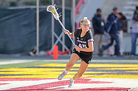 College Park, MD - April 27, 2019: John Hopkins Bluejays Aurora Cordingley (45) in action during the game between John Hopkins and Maryland at  Capital One Field at Maryland Stadium in College Park, MD.  (Photo by Elliott Brown/Media Images International)