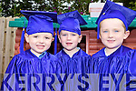 GRADUATES: Children at the Happy Campers cre?che in Listowel who graduated last Friday, l-r: Ryan Sharp, Patrick O'Connor, Eddie Carmody.