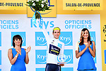 Simon Yates (GBR) Orica-Scott retains the White Jersey at the end of Stage 19 of the 104th edition of the our de France 2017, running 222.5km from Embrun to Salon-de-Provence, France. 21st July 2017.<br /> Picture: ASO/Alex Broadway | Cyclefile<br /> <br /> <br /> All photos usage must carry mandatory copyright credit (&copy; Cyclefile | ASO/Alex Broadway)