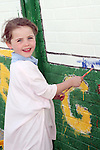 Aoife Manning at the Green Flag Initiative Mural Painting at St.Colmcilles NS, Tullydonnell...Picture Jenny Matthews/Newsfile.ie