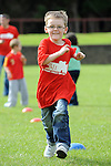 Oisín O'Brien running in the under 8 race at the O'Raghalligh's sports day. Photo: www.pressphotos.ie