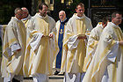 Aug. 25, 2012; Rev. Thomas O'Hara, C.S.C., Provincial Superior, processes into the Basilica of the Sacred Heart for the Final Vows ceremony...Photo by Matt Cashore/University of Notre Dame