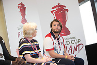 Picture by Charlie Forgham-Bailey/SWpix.com 13/07/2017 - International Rugby League - Rugby League World Cup 2021 - RLWC2017 Presentation at ALTITUDE LONDON, SKYLOFT Millbank Tower, London - The panel L-R Barbara Slater, Joe Coyd