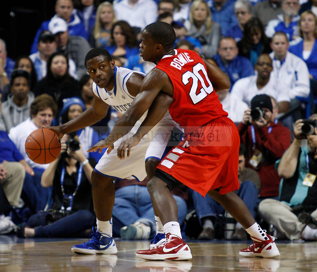 Darius Miller is guarded by Jay Bowie in the game against Marist College, at Rupp Arena, in Lexington, Ky., on Friday, Nov. 11, 2011. Photo by Latara Appleby | Staff ..